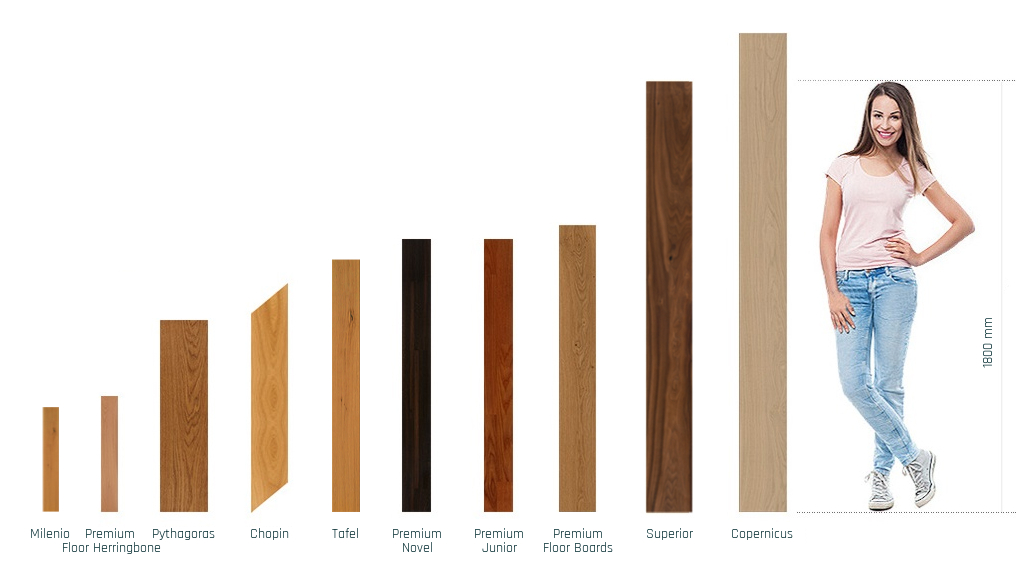 Image with plank size comparision